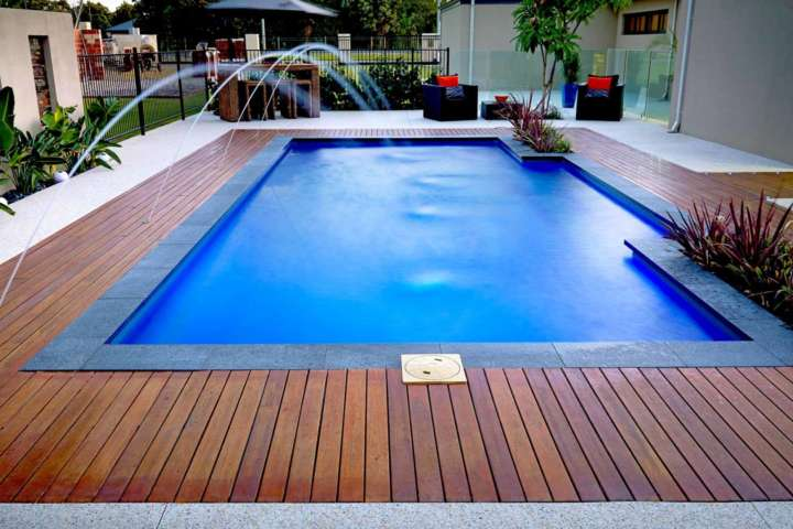 Timber Decking is perfect to go along with any pool designs - Australian Outdoor Living