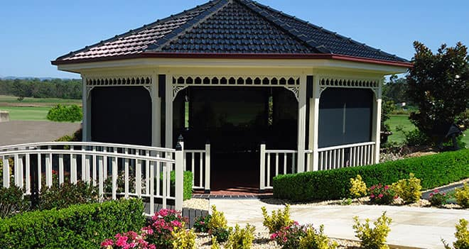 Pergola shade blinds