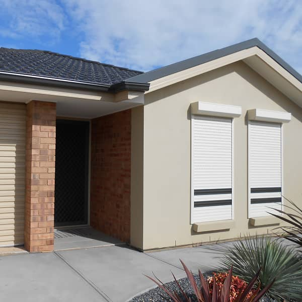 Roller shutters will add value and style to your home.