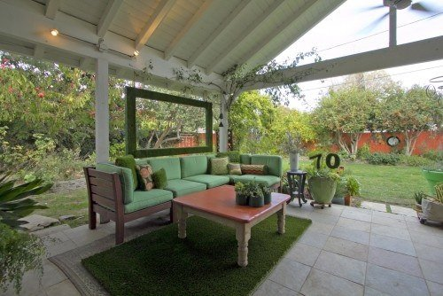 Unique Ways to Dress Up Your Concrete Floor with Artificial Grass - A small piece of artificial grass makes for an excellent outdoor rug, Australian Outdoor Living.