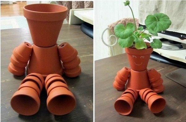 30 Backyard DIY Project Ideas - Make Your Own Flower Pot People, Australian Outdoor Living.