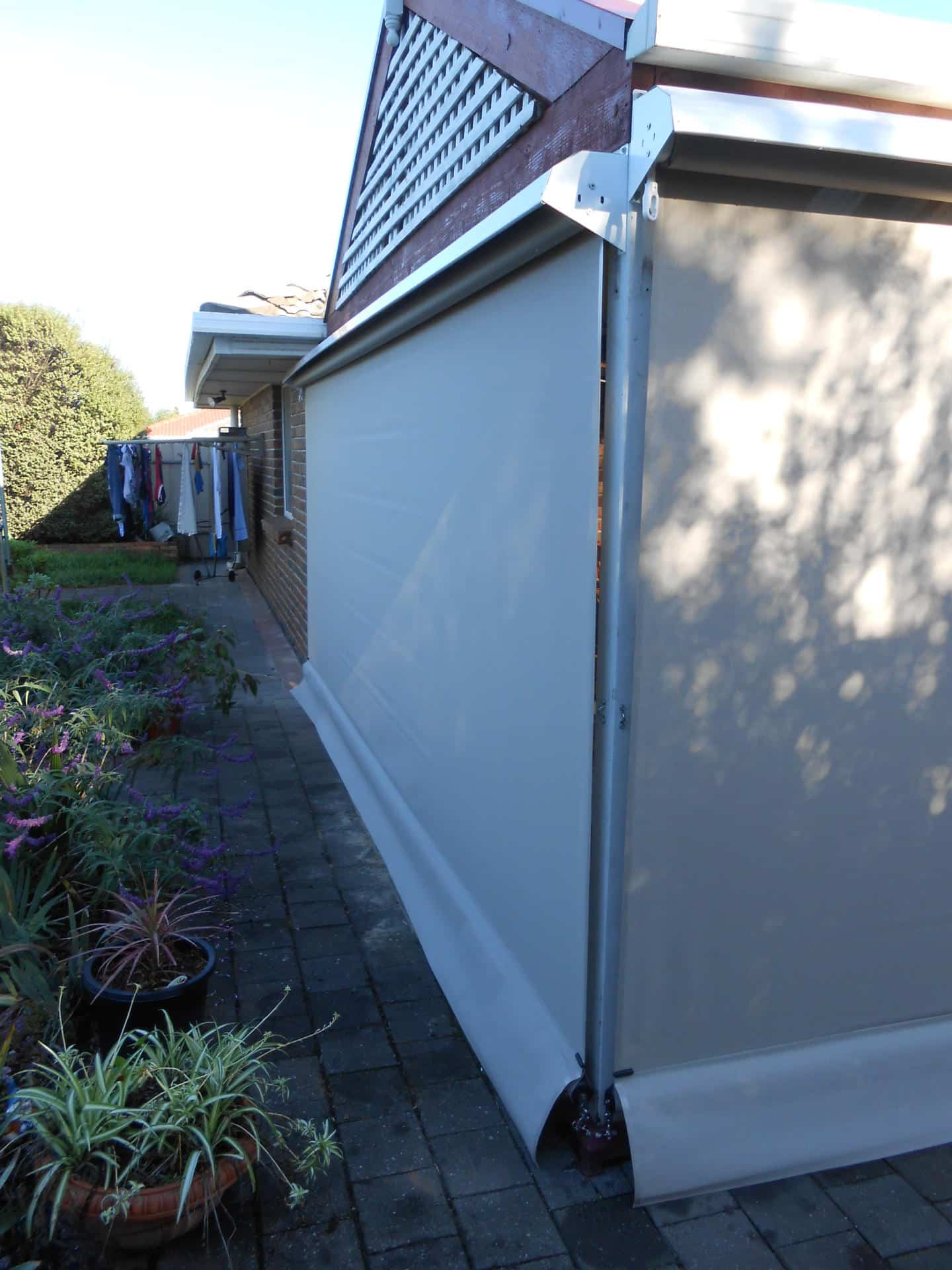 No longer blinded by the sun - See our Facebook competition winner's new set of outdoor blinds, Australian Outdoor Living.