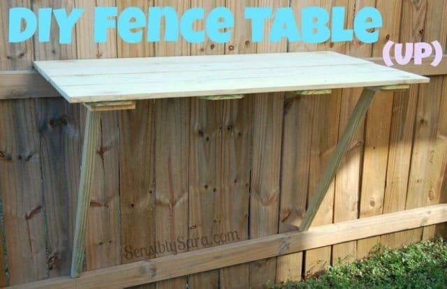 30 DIY Backyard Prject Ideas - DIY Fence Table, Australian Outdoor Living.