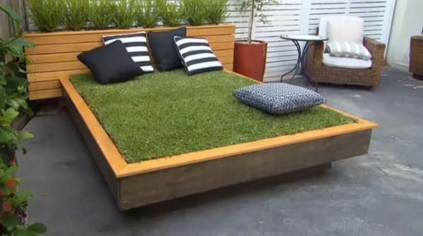 30 Backyard DIY Project Ideas - Garden Grass Bed, Australia Outdoor Living.