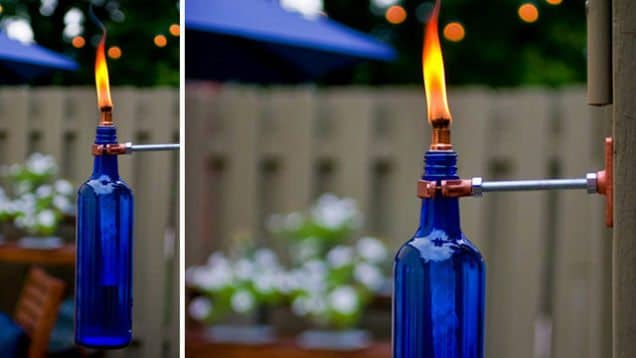 Mosquito Repelling Torch - 30 Backyard DIY Project Ideas, Australian Outdoor Living.