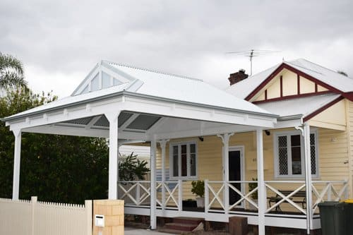 Pergola Design Ideas, Inspiration, Pictures & More - White-painted timber pergola, Australian Outdoor Living.