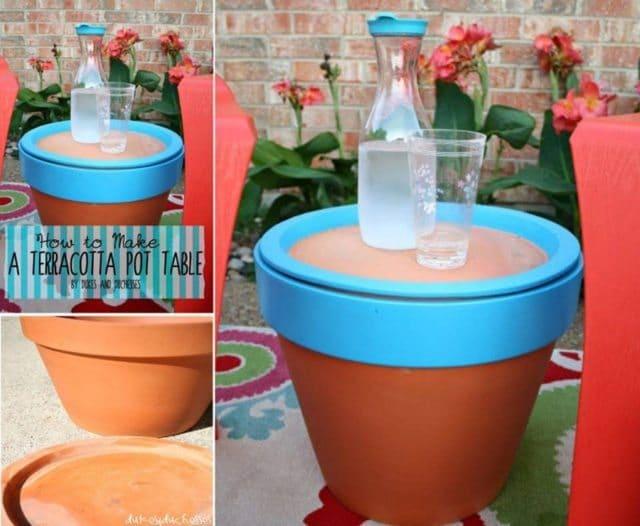 30 Backyard DIY Project Ideas - Terracotta Pot Table, Australian Outdoor Living.