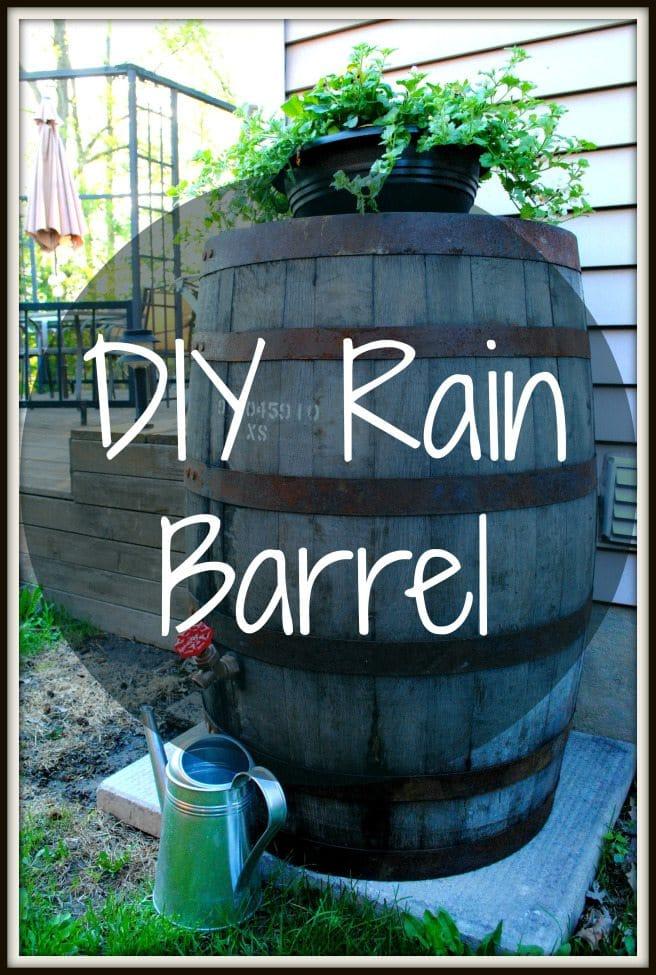 30 Backyard DIY Prject Ideas - DIY Rain Barrel, Australian Outdoor Living.