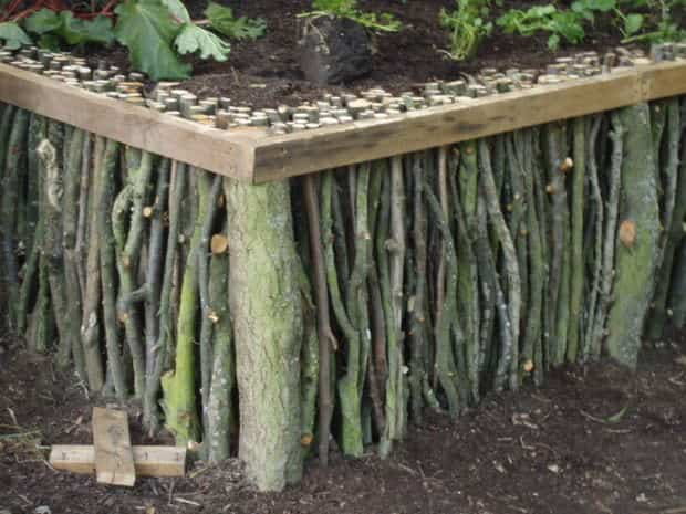 atural wood raised garden