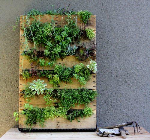 30 Backyard DIY Project Ideas - Hanging Pallet Garden, Australian Outdoor Living.