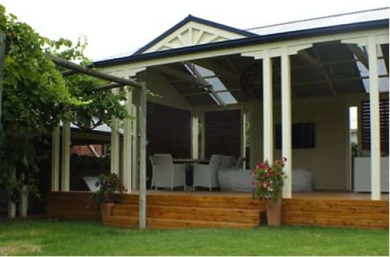 Pergola for entertaining