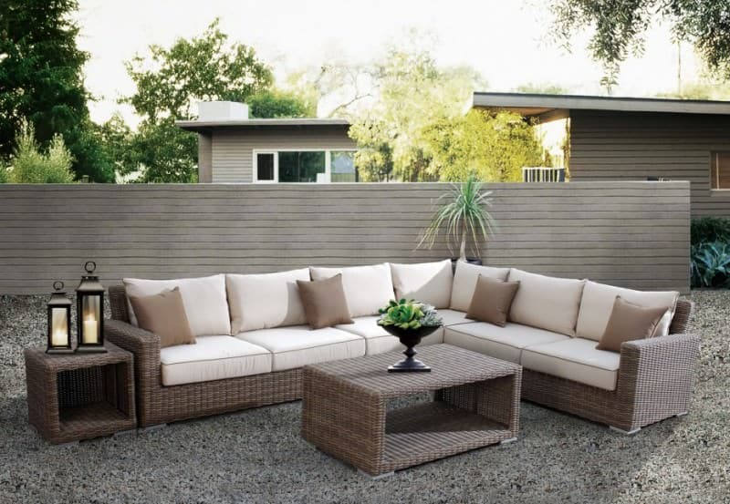 rattan sectional
