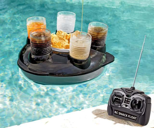 The Top 8 Pool Accessories You'll Never Need - And Desperately Want - Motorized Radio Controlled Drink Float, Australian Outdoor Living.