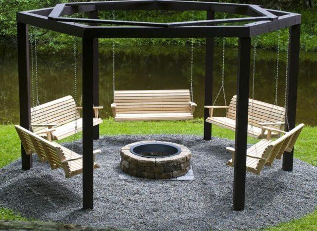 30 Backyard DIY Project Ideas - Swings around the Fire Pit, Australian Outdoor Living.
