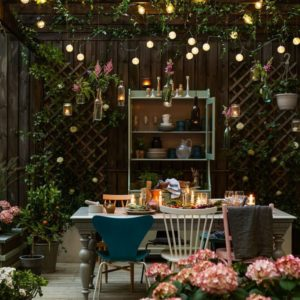 String Lights Outdoor Entertainment Area