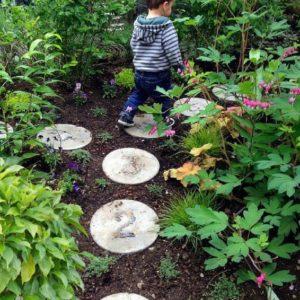 Garden Hopscotch Number Stones