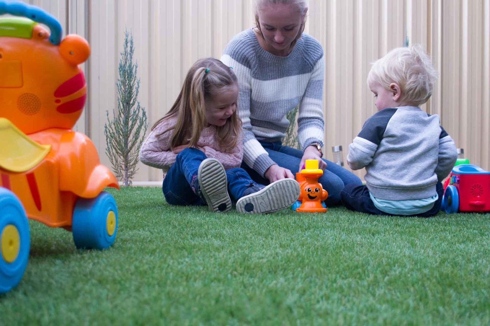 Is artificial grass good for dogs and kids - Artificial grass is soft for kids to play on, Australian Outdoor Living.