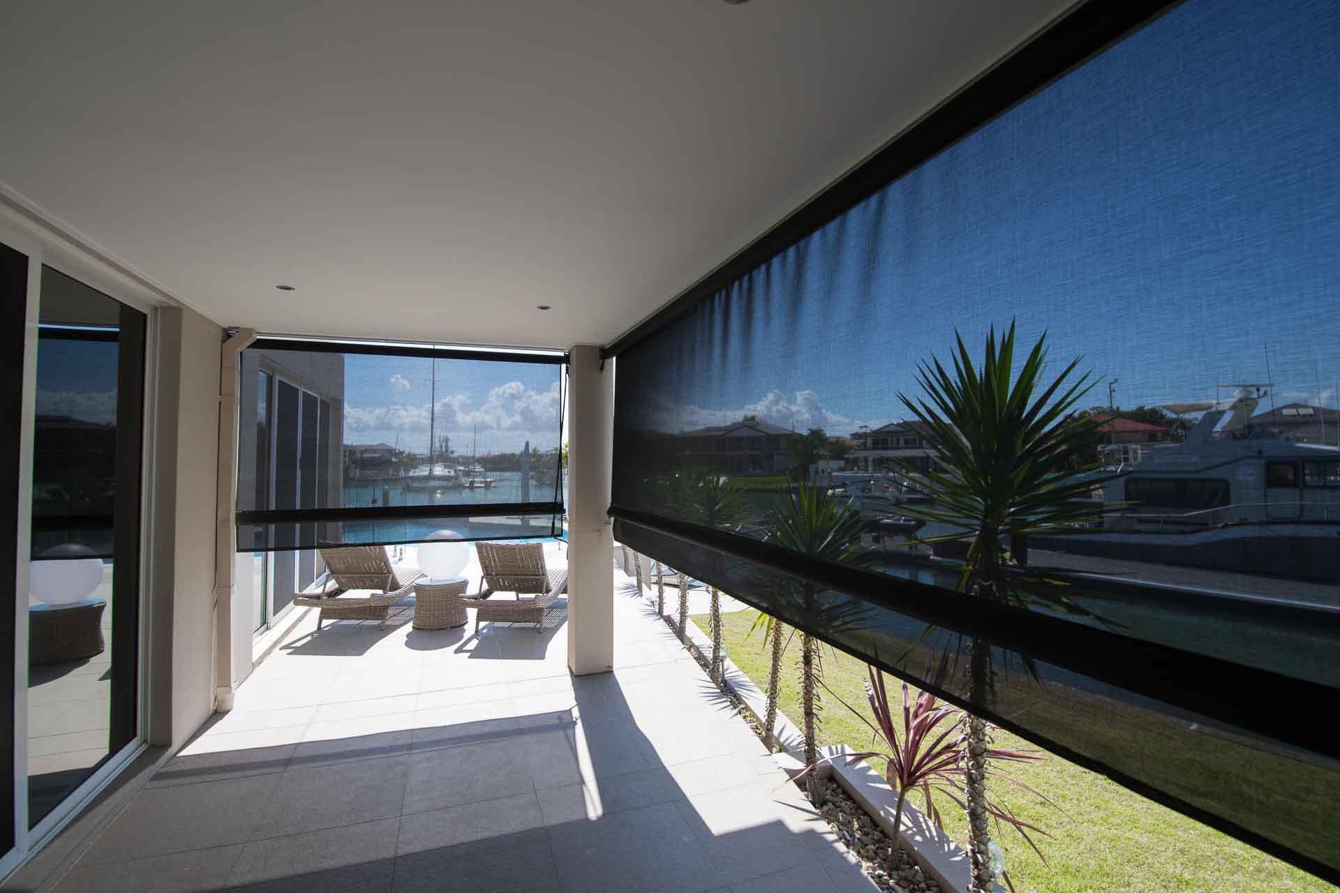 Outdoor blinds offer shade for your verandah, patio or pergola.