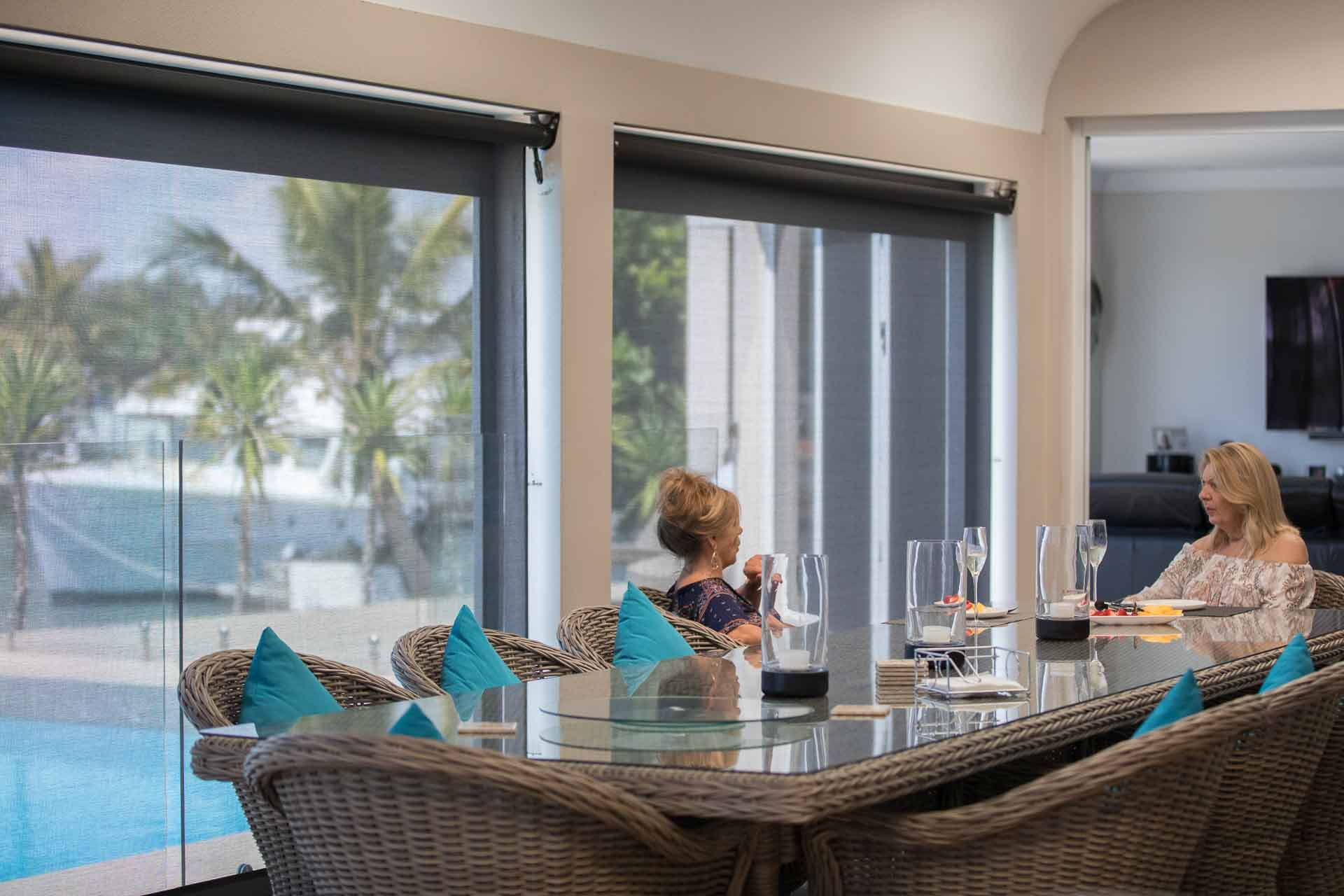 Protect your outdoor furniture from damage with shade blinds - Protect your outdoor furniture with a set of outdoor shade blinds, Australian Outdoor Living.