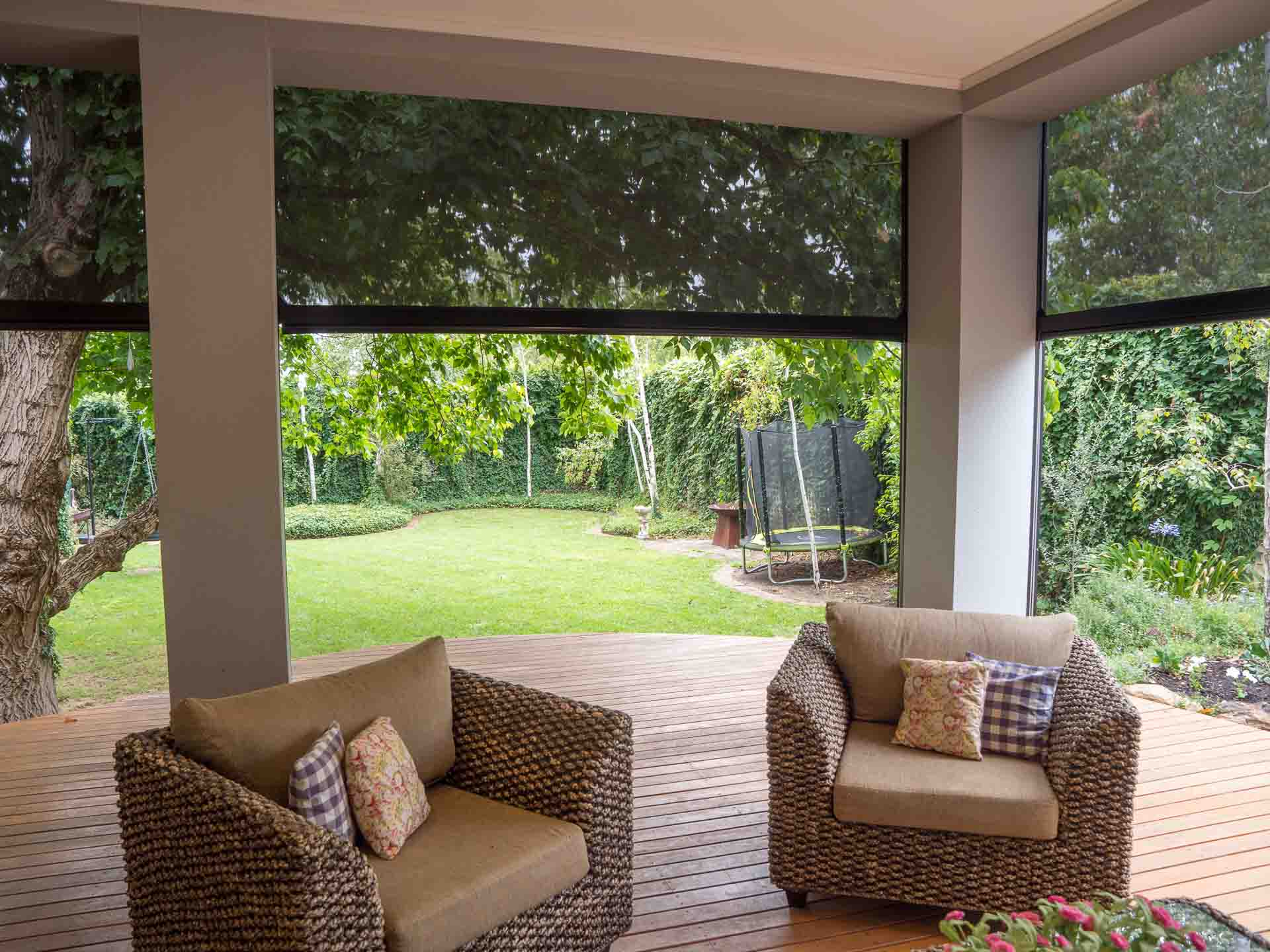 Make sure your outdoor roller blinds last as long as possible with these handy tips - Wind them up or keep them down.