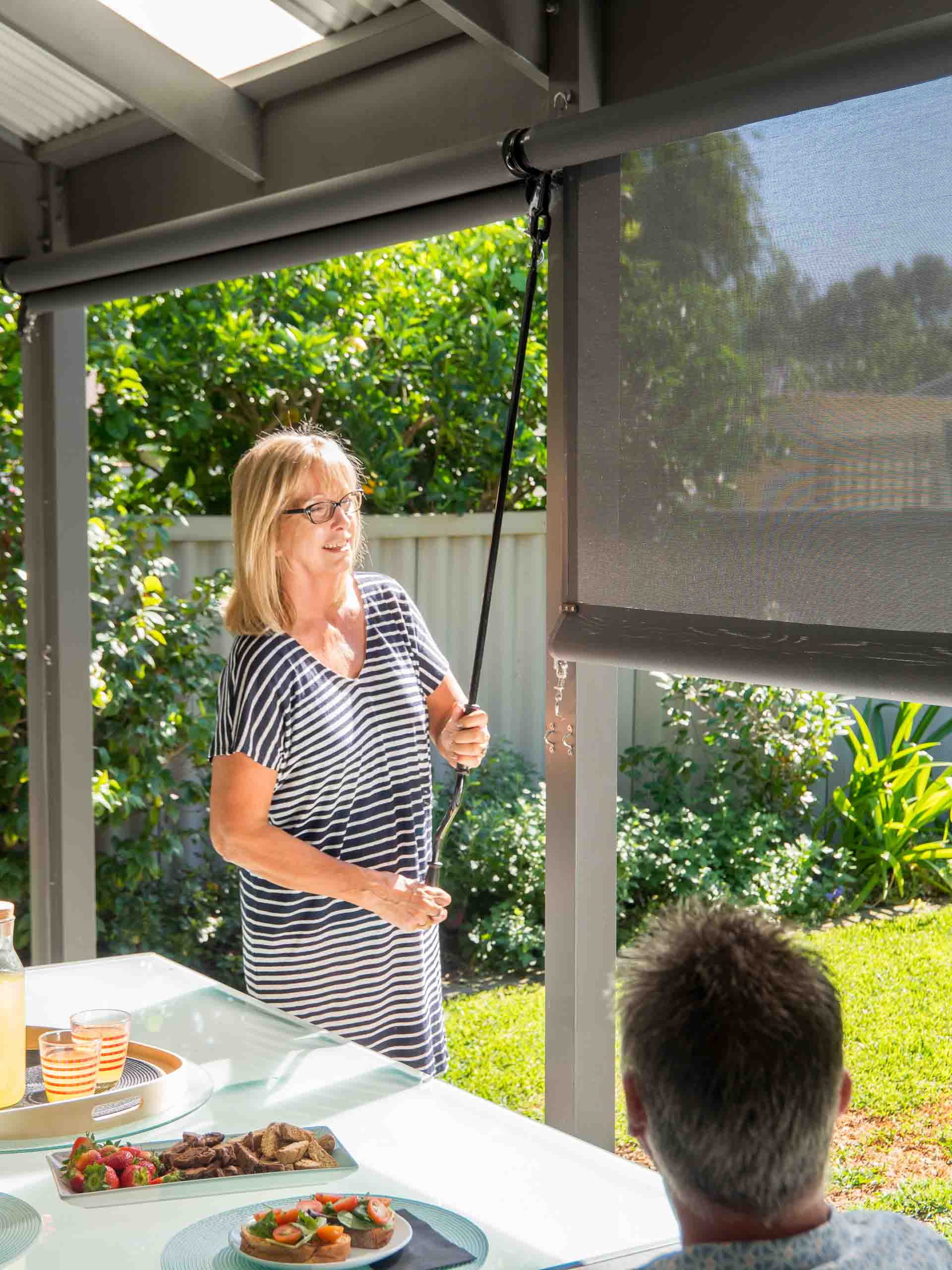 Have your questions on Outdoor Blinds answered by the experts - How do I secure my blind if I only want them half way down.