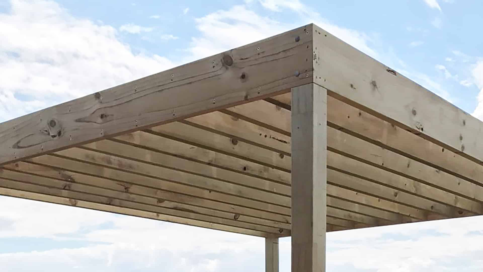 Everything You Need to Know About Pergolas: A Glossary of Pergola Terms - Purlins are optional smaller bits of wood that can sit on top of the rafters for added shade from your pergola, Australian Outdoor Living.