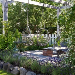 DIY awning outdoor area