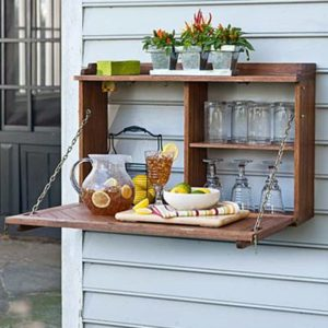 DIY servery on outdoor wall