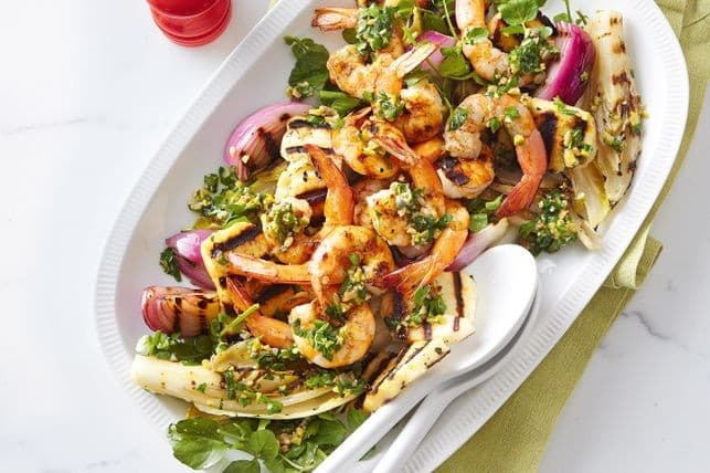 Five Tasty Barbecue Recipes to Enjoy With Your Mates - BBQ prawns with salsa verde, Australian Outdoor Living.