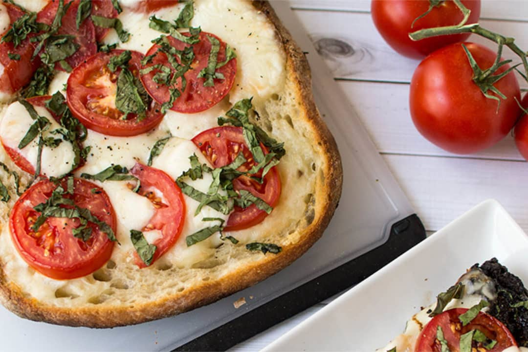 Mouth-watering Mediterranean recipes to satisfy your hunger - Open-faced grilled Caprese sandwich, Australian Outdoor Living.