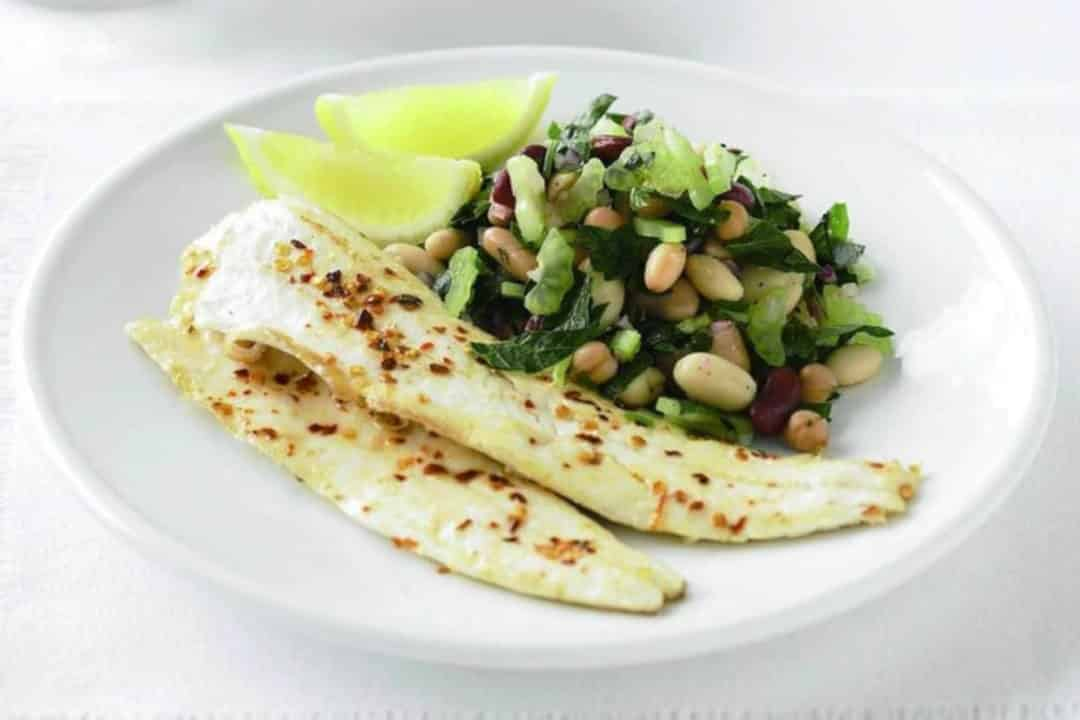 Mouth-watering Mediterranean recipes to satisfy your hunger - Grilled Whiting with Mediterranean Bean Salad, Australian Outdoor Living.