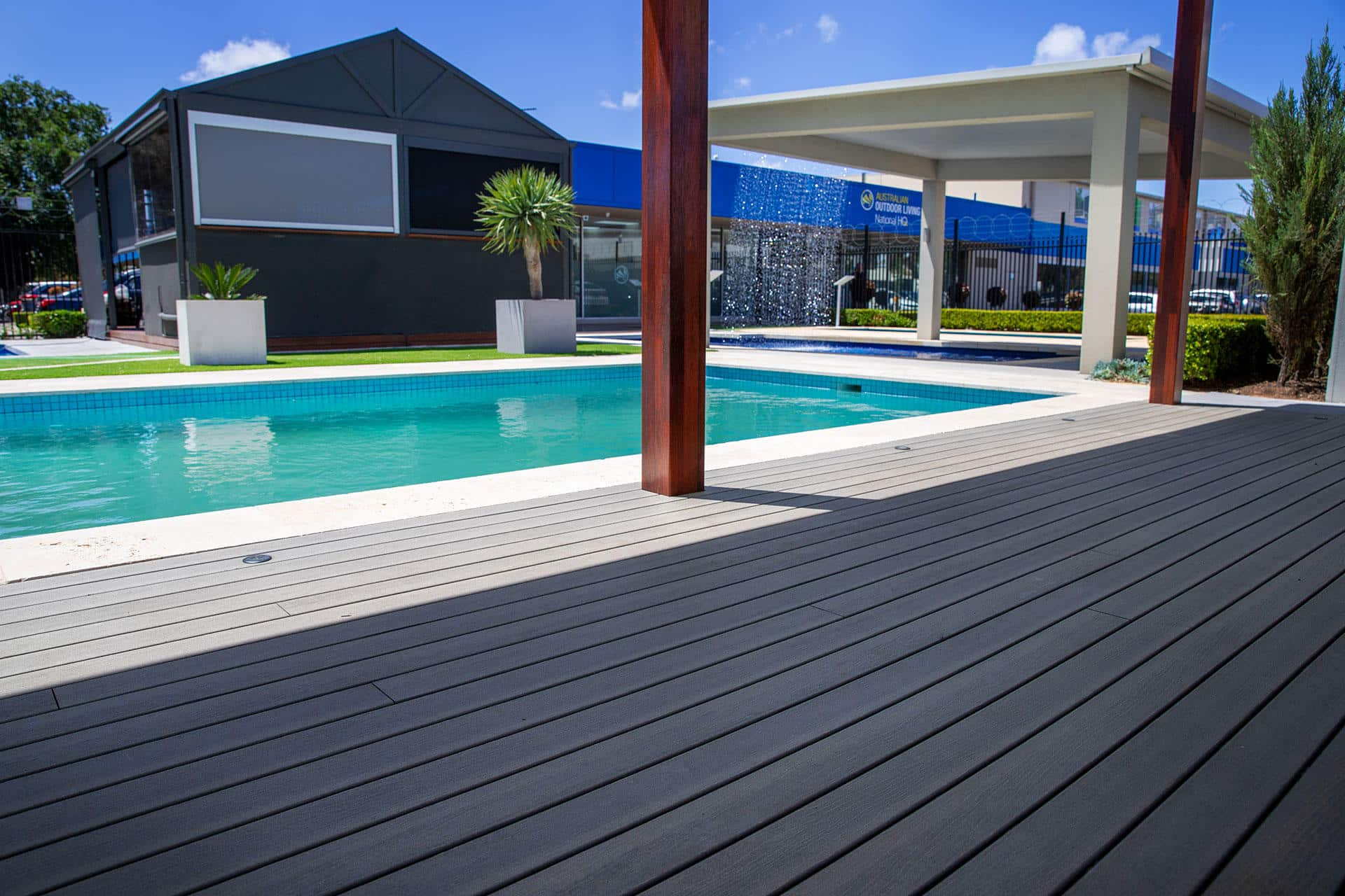 Australian Outdoor Living unveils new outdoor display centre with Super Saturday specials - Check out our range of outdoor blinds, roller shutters, artificial grass, timber decking, pergolas, verandahs and carports, Australian Outdoor Living.