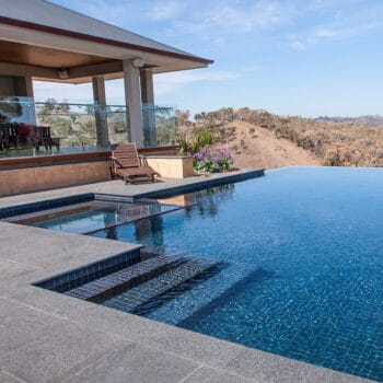 Suburban backyard or luxury resort?